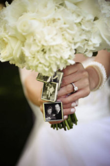 Wedding Bouquet Photo Charms