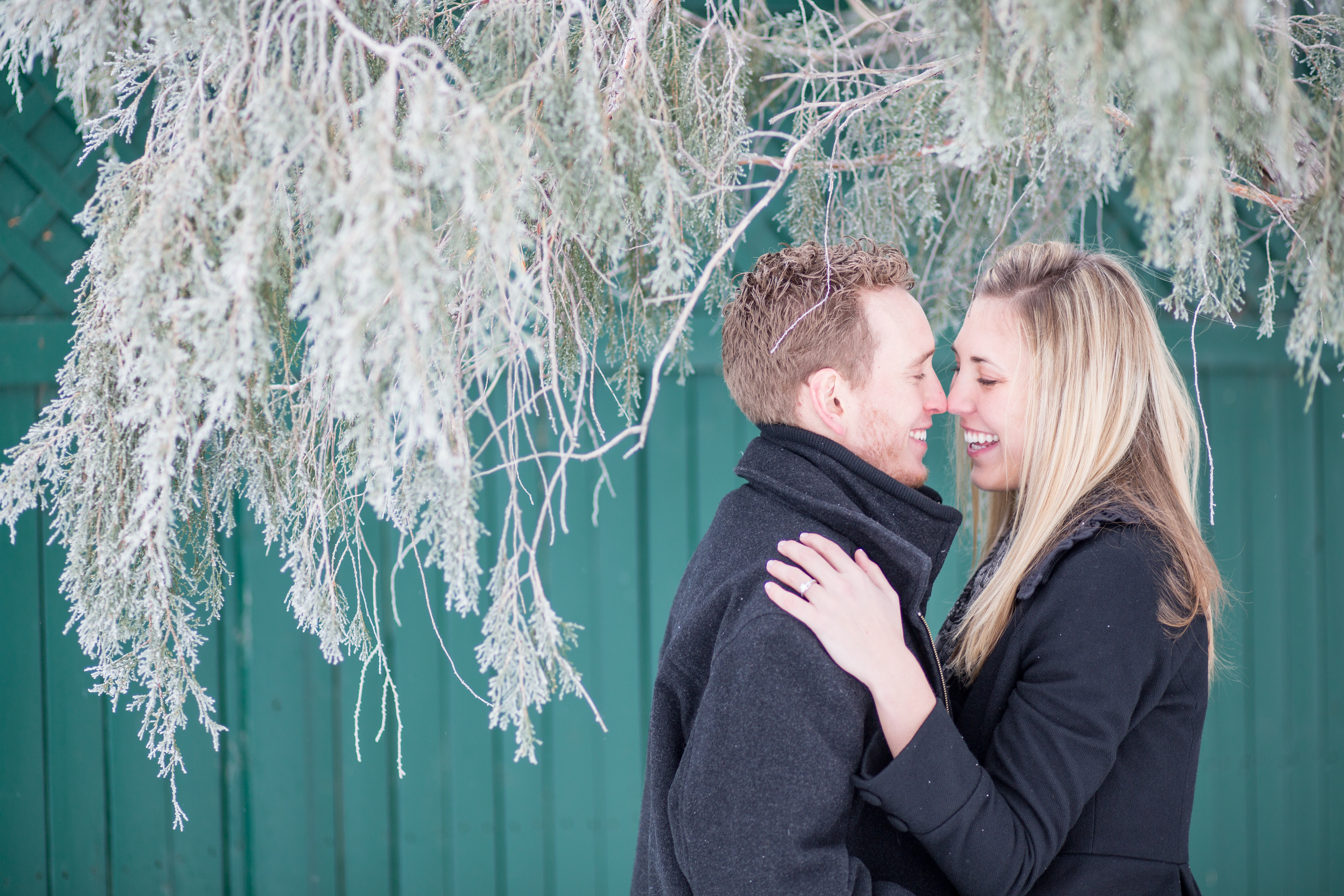 Kim and John's Snowy Engagement Session