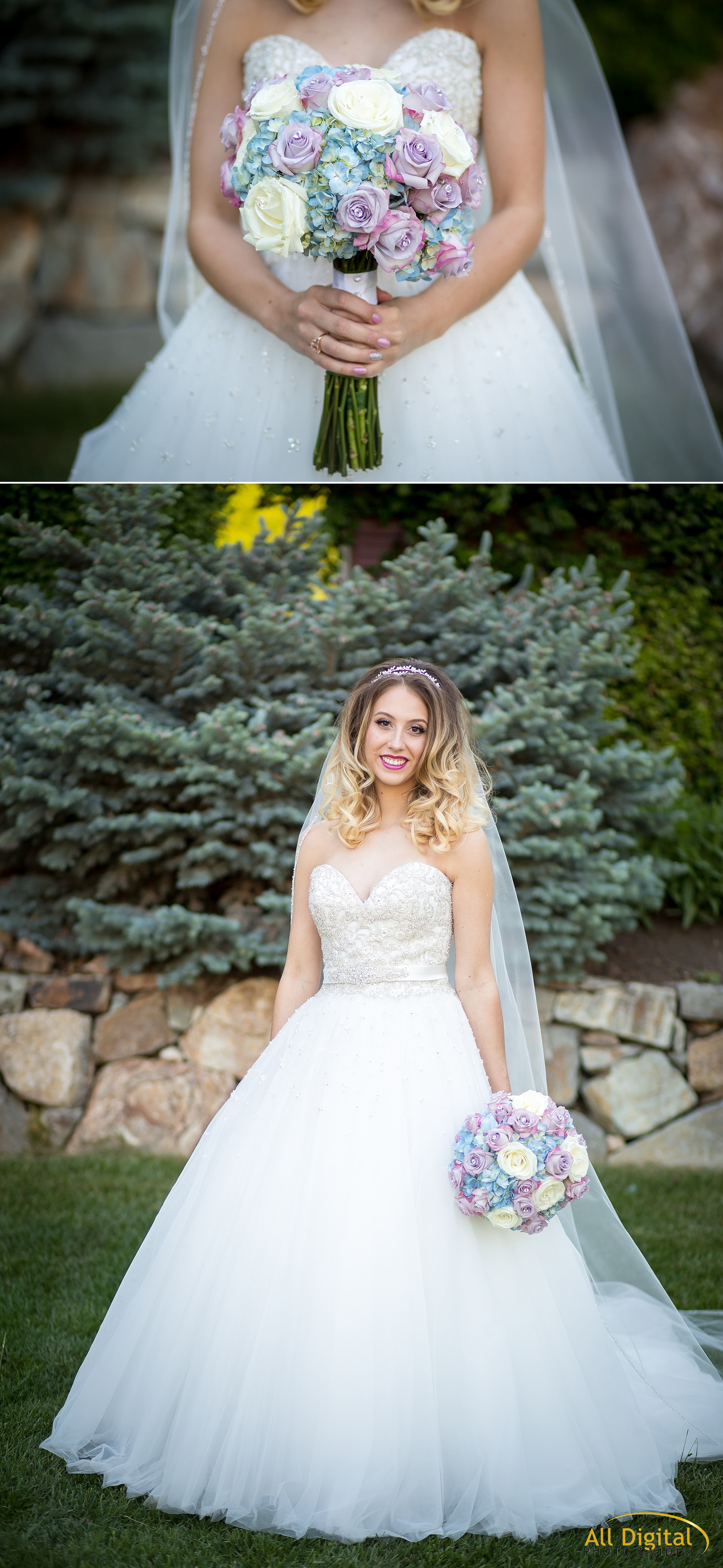 Bridal portraits at Stonebrook Manor.