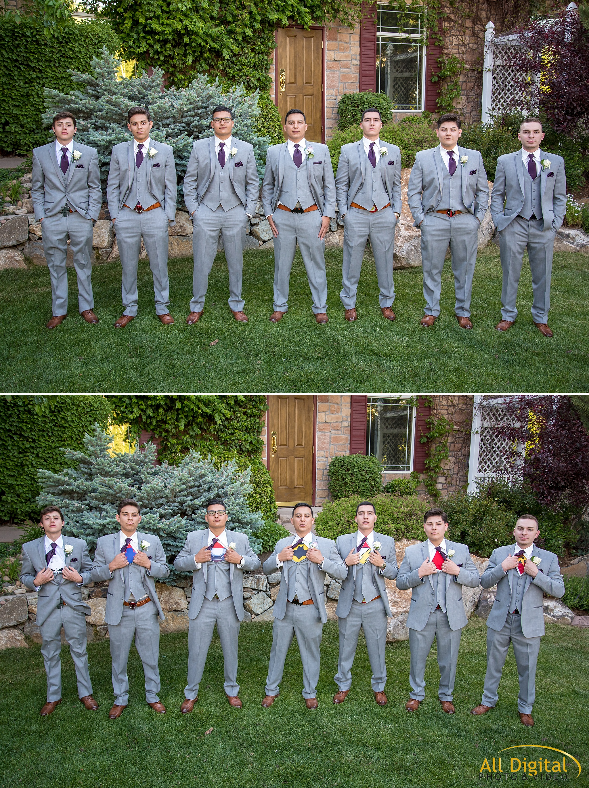 Groom and groomsmen portraits at Stonebrook Manor.