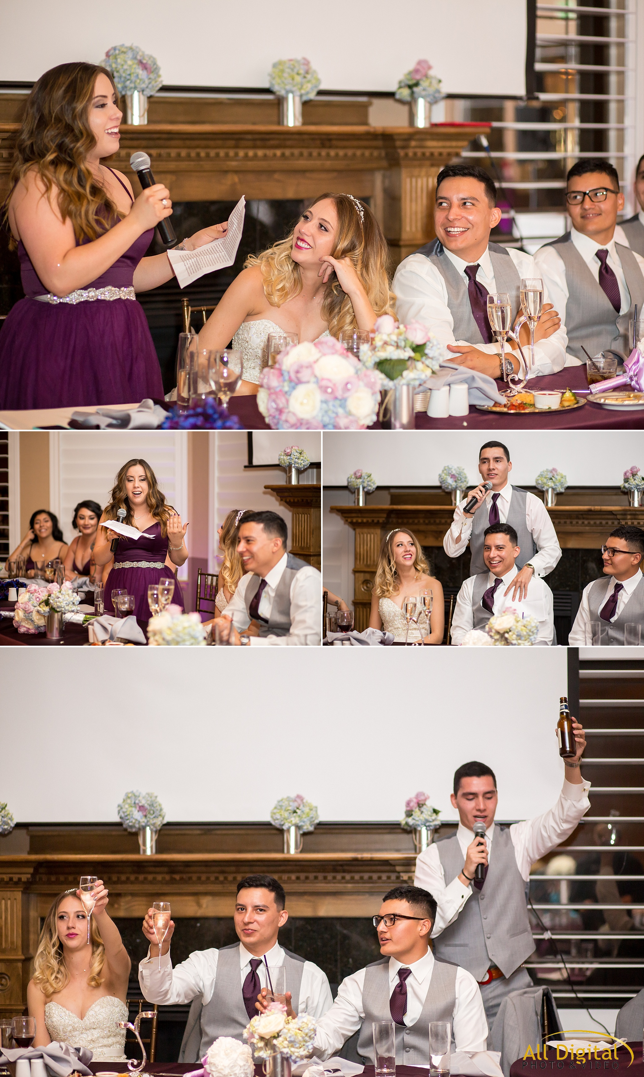 Maid of Honor and Best Man speeches at Stonebrook Manor.