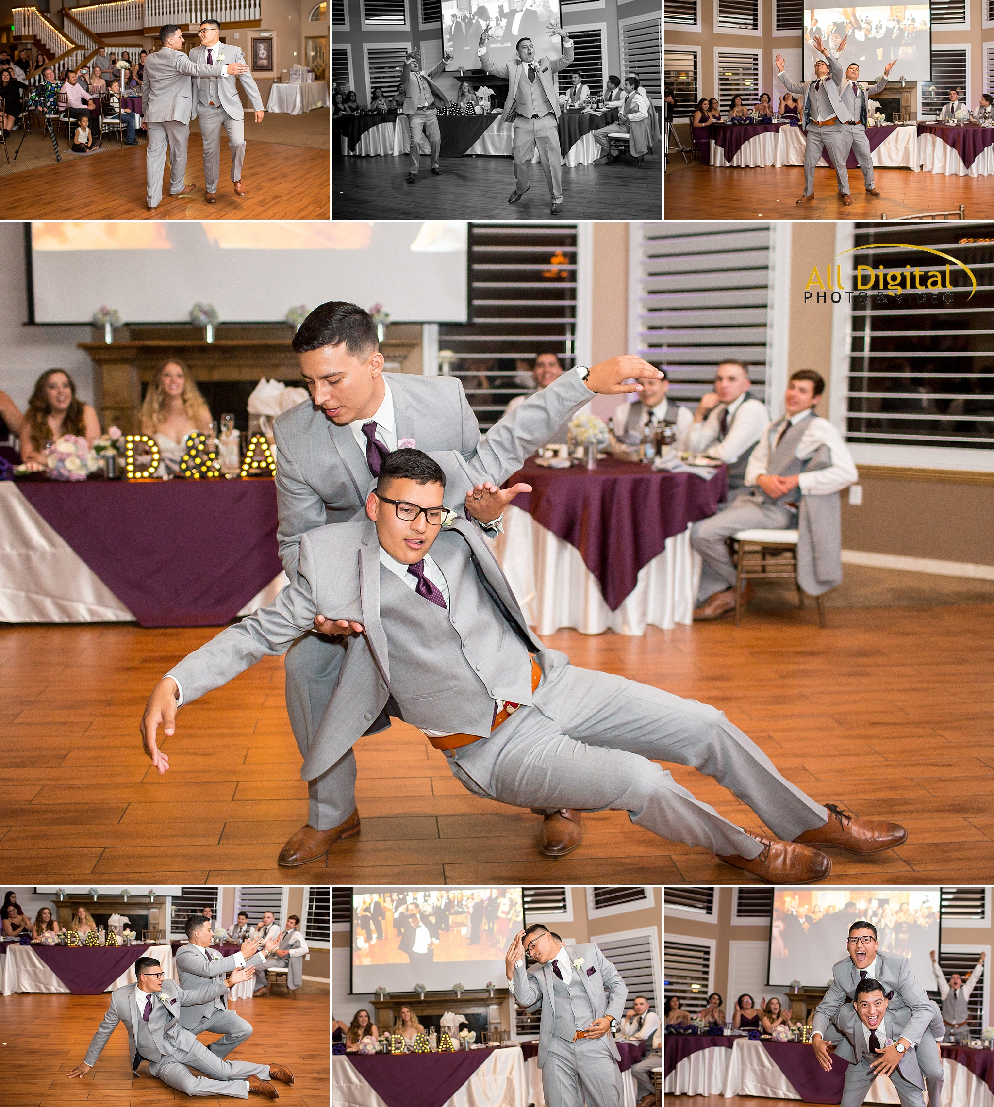 Funny Groom & Best Man dance at Stonebrook Manor.