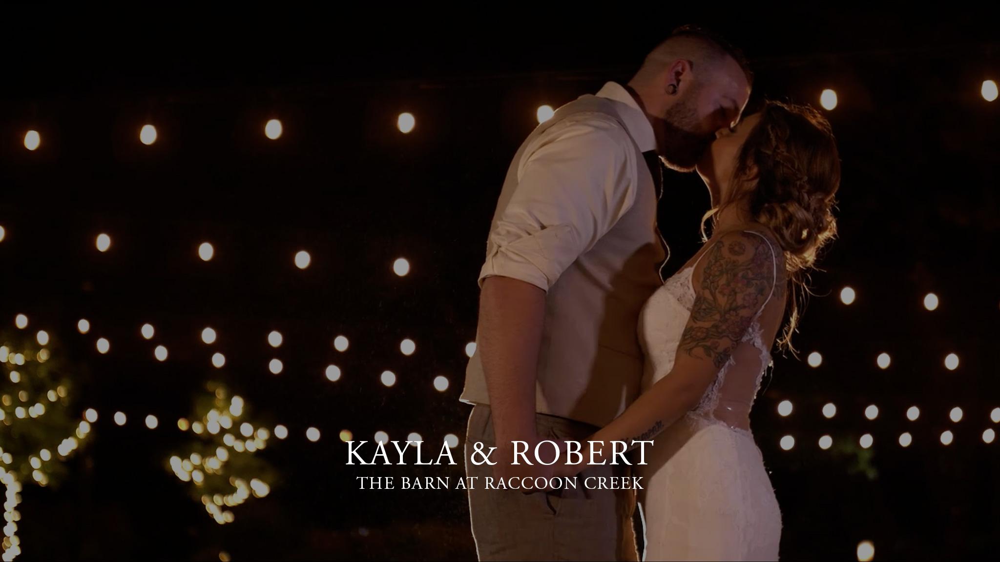 Kayla & Robert at The Barn at Raccoon Creek