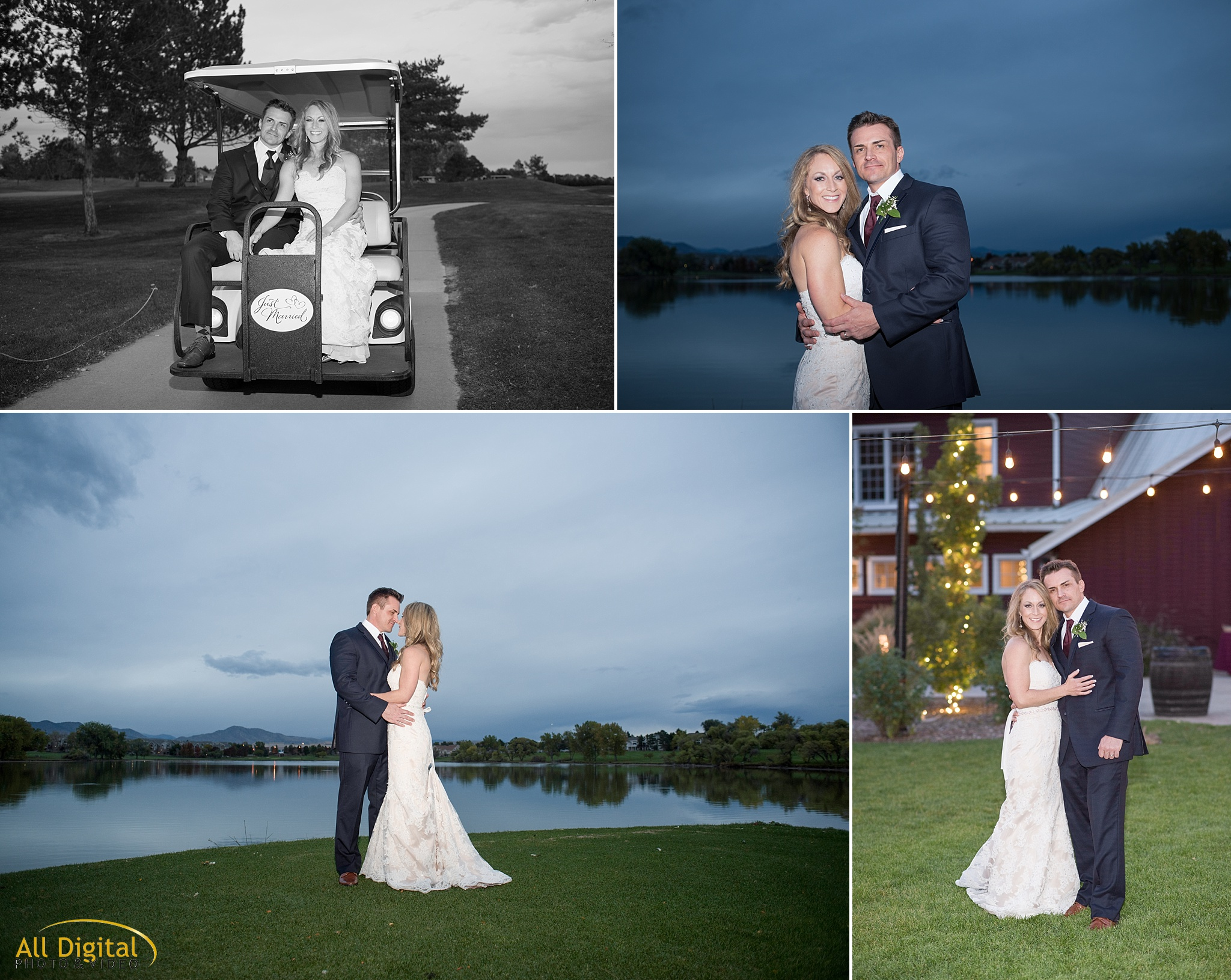 Bride & Groom Portraits on the Golf Course at Raccoon Creek.