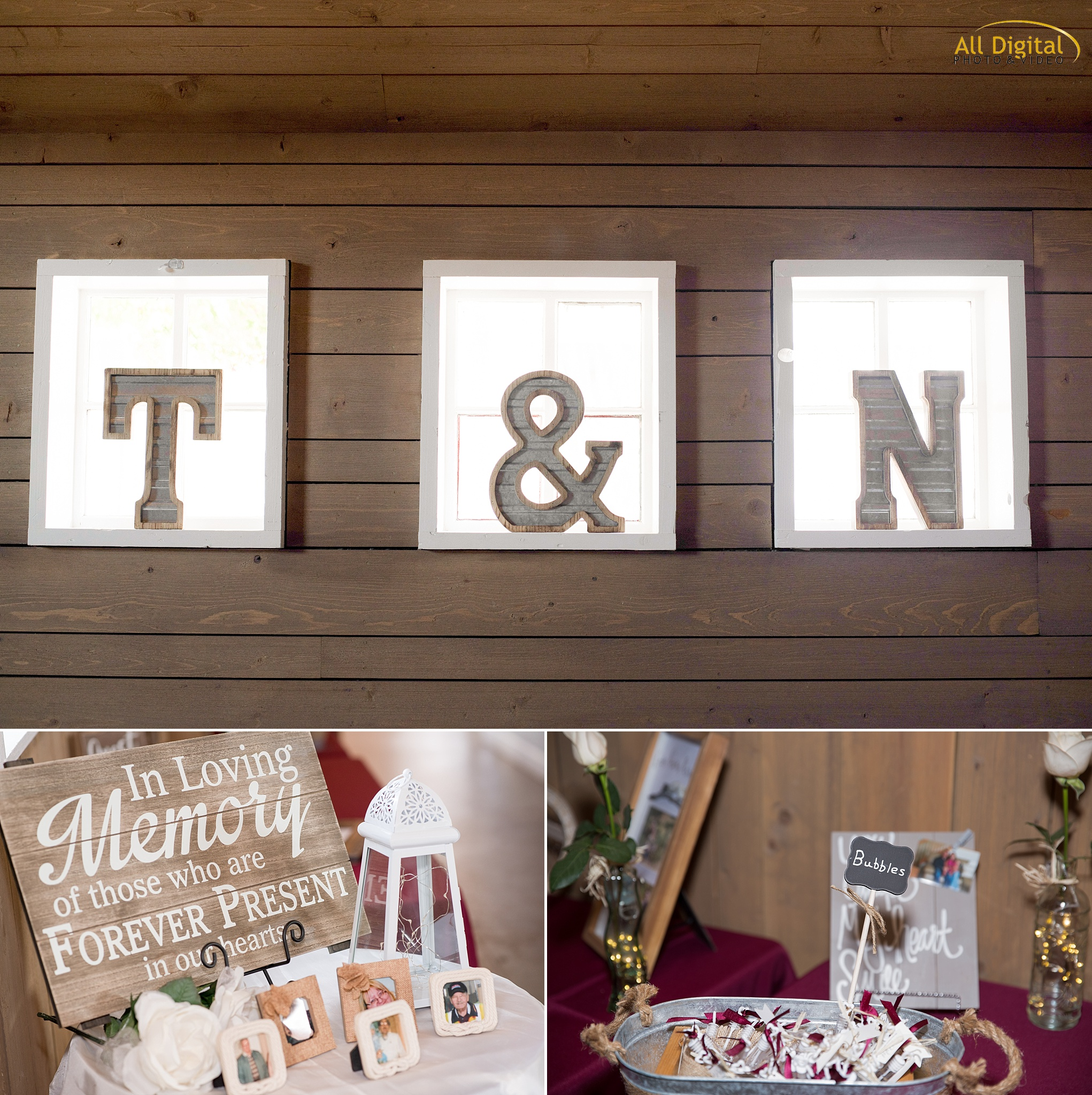 Tina & Nathan's Reception Details at the Barn at Raccoon Creek