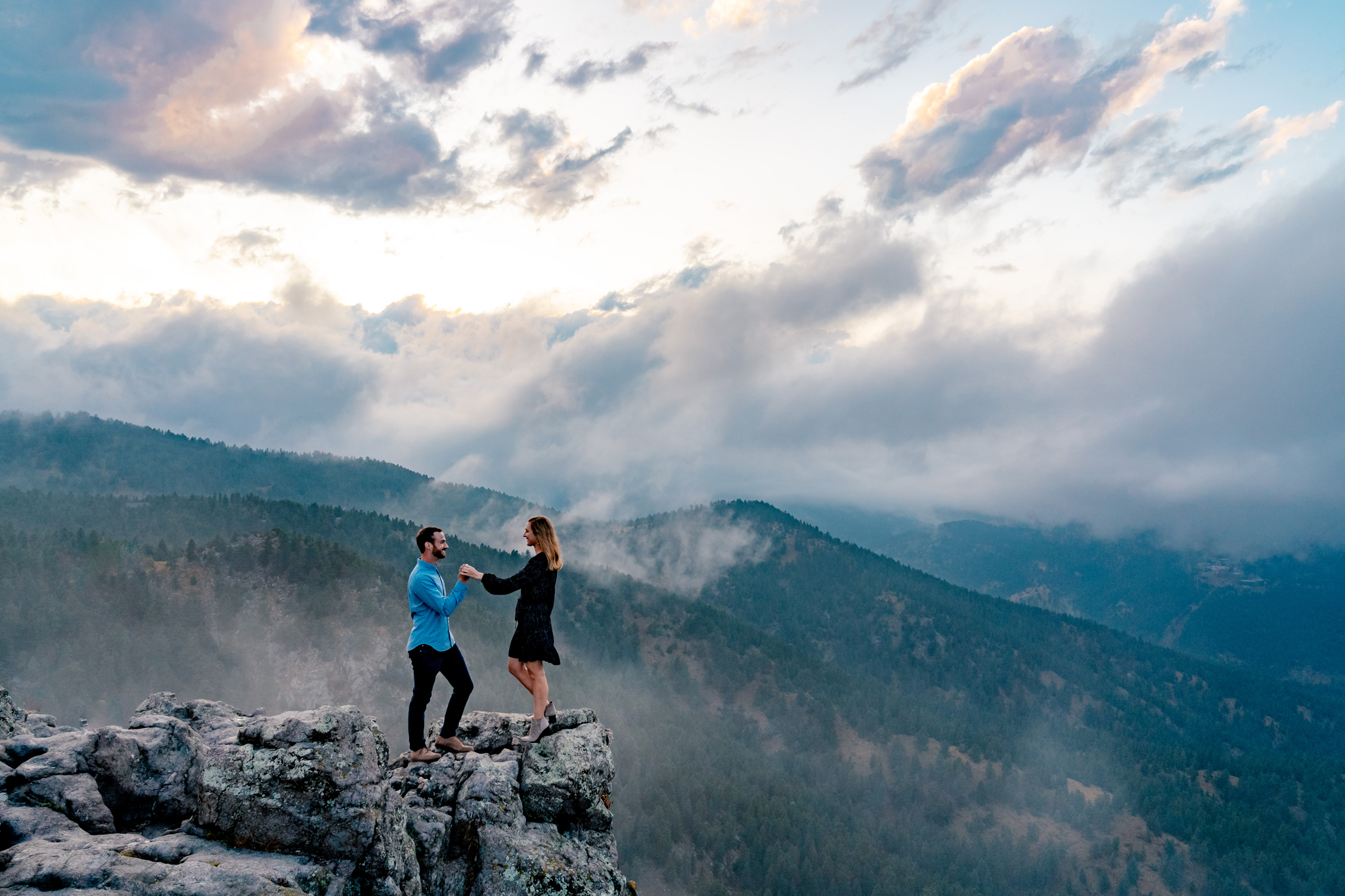 Claire & Seth's Colorado Mountain Engagement Session by Colorado Wedding Photographer, All Digital Photo & Video. Colorado Engagement Photographer, Colorado Engagement Photo, Colorado Engagement, Engagement Photography